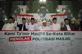 Takmir Masjid di Kota Blitar Menolak Politisasi Masjid (Sumber Antara)